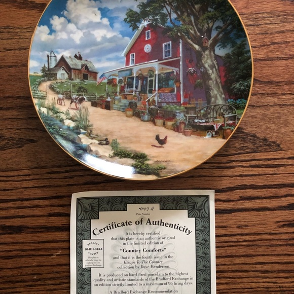 Bradford Exchange Country plate